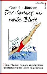 Buchcover mit dem Titel Der Sprung ins weiße Blatt